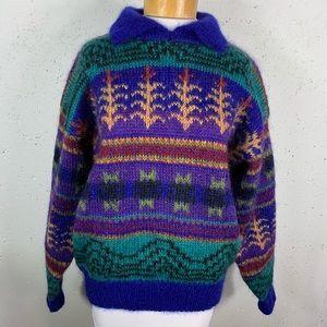 Icelandic Design Mohair Wool Ski Sweater Medium